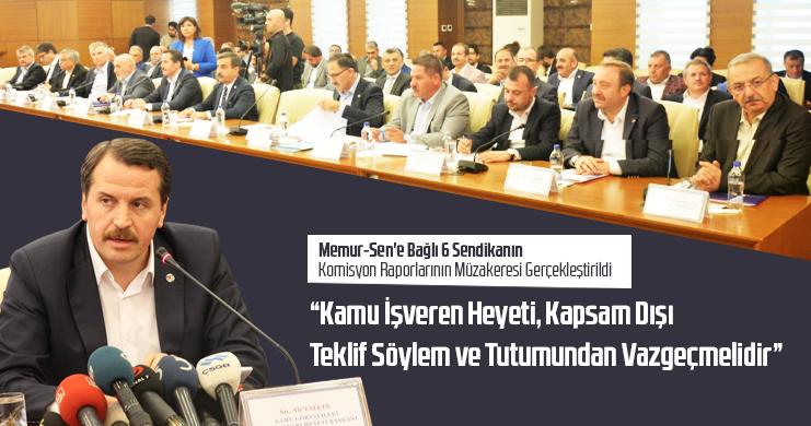 Memur-Sen'e Bağlı 6 Sendikanın Komisyon Raporlarının Müzakeresi Gerçekleştirildi