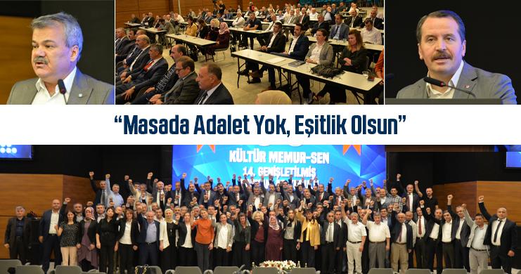 Kültür Memur-Sen'in 14. Genişletilmiş Başkanlar Kurulu Toplantısı Gerçekleştirildi