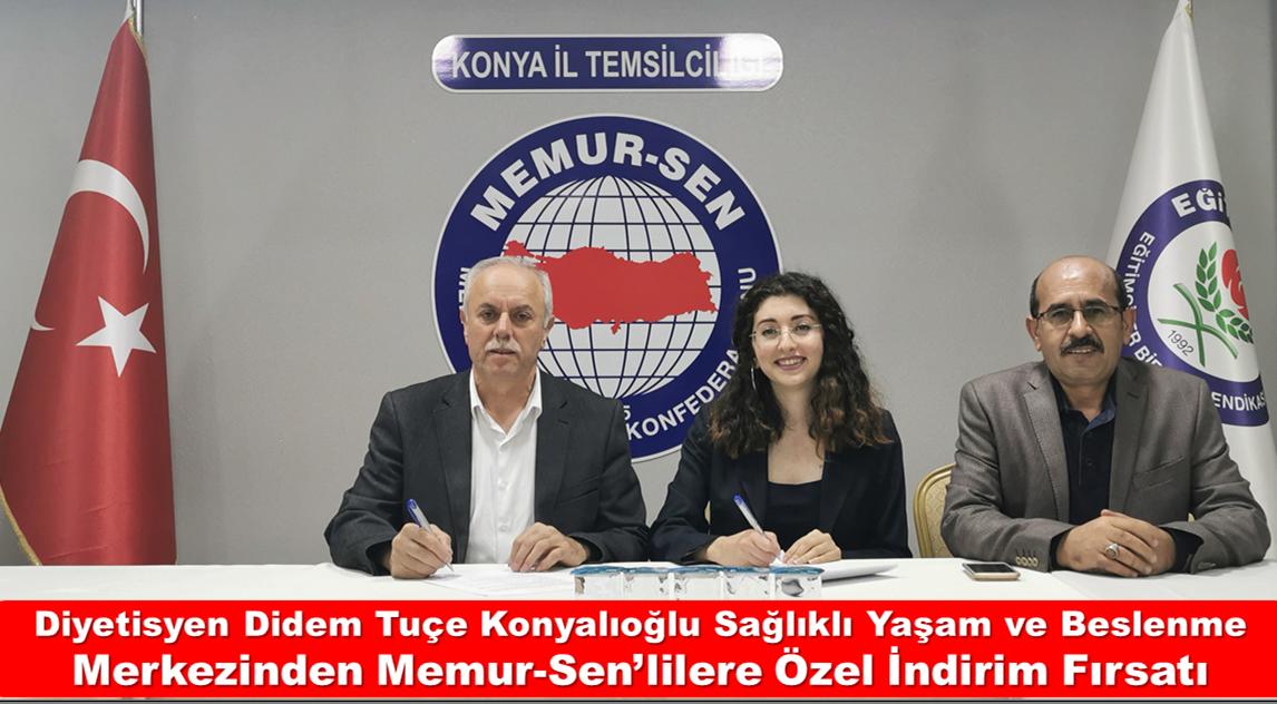 Diyetisyen Didem Tuçe Konyalıoğlu Sağlıklı Yaşam ve Beslenme Merkezinden Memur-Sen'lilere Özel İndirim Fırsatı