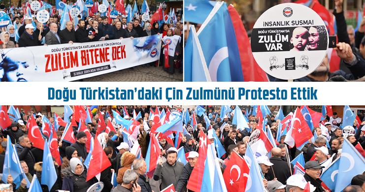 Memur-Sen'den Doğu Türkistan'daki Çin Zulmüne Kitlesel Tepki