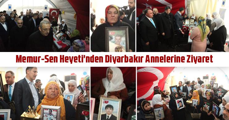 Memur-Sen Heyeti'nden Diyarbakır Annelerine Ziyaret