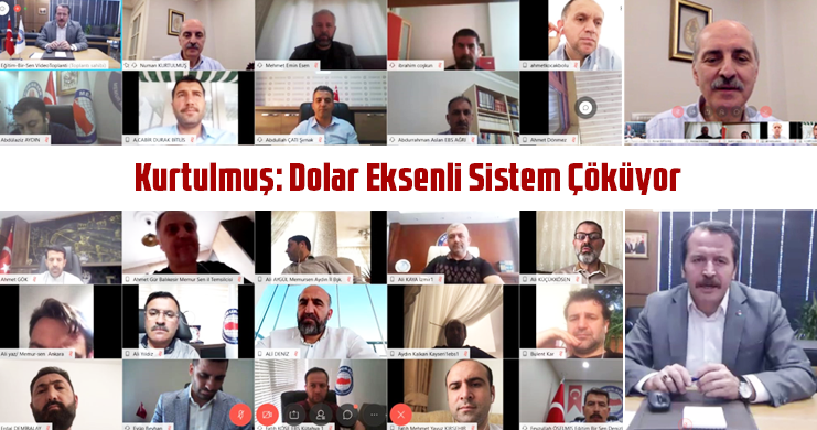 Kurtulmuş Pandemi Sonrası Yeni Ekonomik Dinamikler ve Türkiye Konulu Tele Konferansa Katıdı