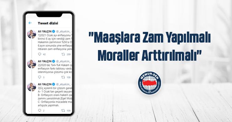 """Genel Başkan Ali Yalçın: """"Kamu Görevlilerinin Maaşı Arttırılmalı"""""""