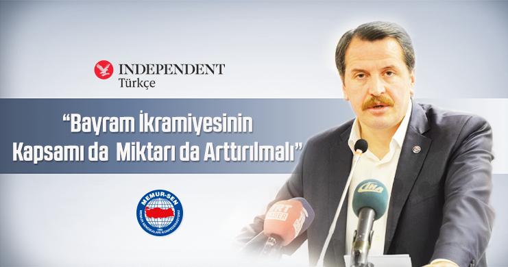 Genel Başkan Ali Yalçın'dan Bayram İkramiyesi Çağrısı