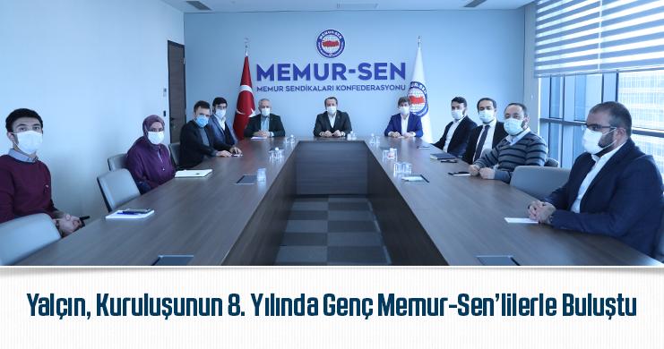 Genel Başkan Ali Yalçın, Kuruluşunun 8. Yılında Genç Memur-Sen'lilerle Buluştu