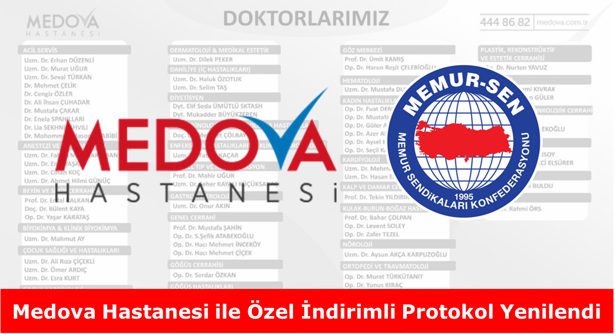 Medova Hastanesi ile Özel İndirimli Protokol Yenilendi