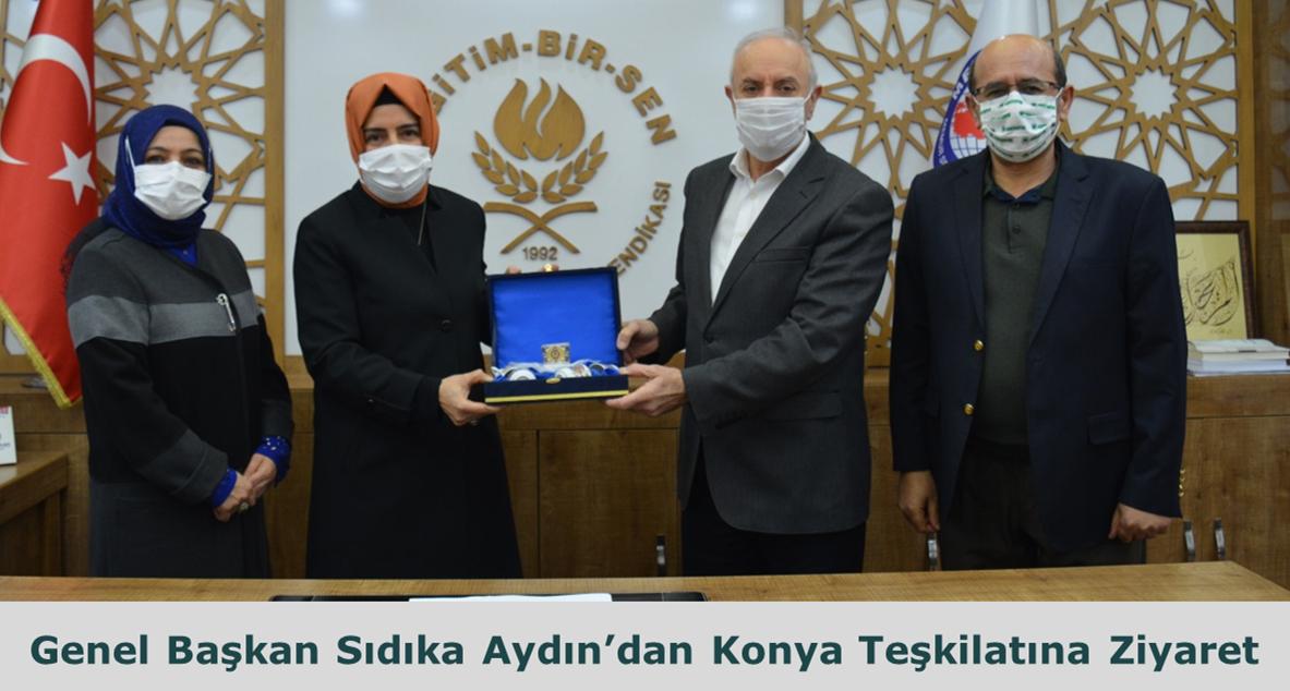 Genel Başkan Sıdıka Aydın'dan Konya Teşkilatına Ziyaret