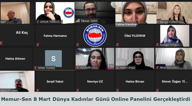 Memur-Sen 8 Mart Dünya Kadınlar Günü Online Panelini Gerçekleştirdi
