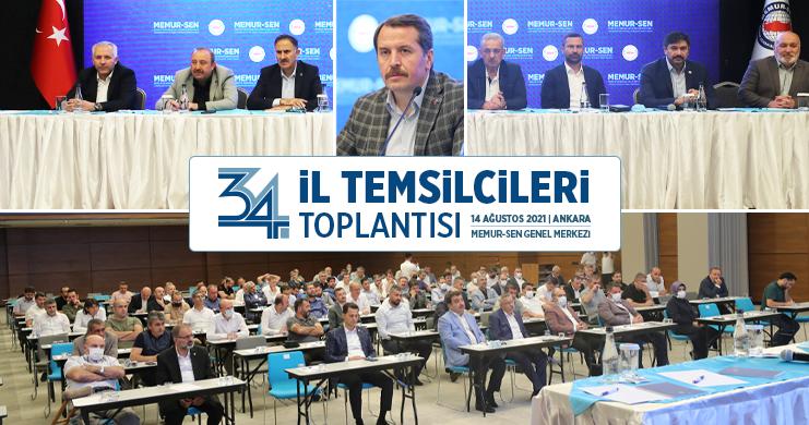 Memur-Sen İl Temsilcileri Toplantısı Ankara'da Gerçekleştirildi
