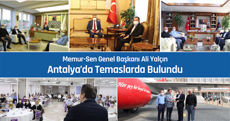 Genel Başkan Yalçın Antalya'da Temaslarda Bulundu